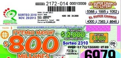 Lotería del Risaralda | EL SUPER CHANCE DE LOS LOTEROS - Lotería del  Risaralda
